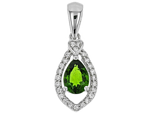 Green Chrome Diopside Sterling Silver Pendant .80ctw