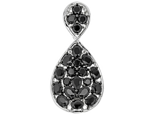 Photo of Black Spinel Sterling Silver Pendant 3.08ctw