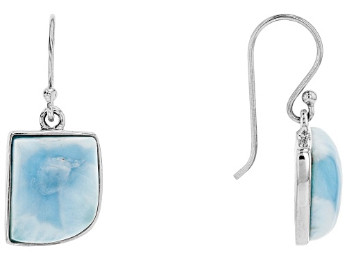 Photo of Blue Larimar Sterling Silver Earrings