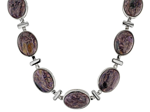 Photo of Purple Charoite Sterling Silver Necklace - Size 18