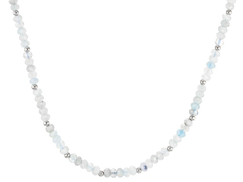 Photo of Aquamarine Sterling Silver Necklace - Size 18