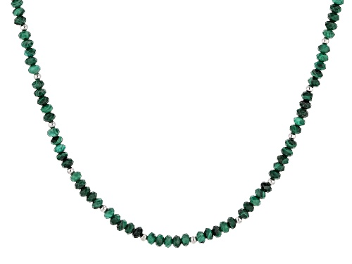 Photo of Malachite Sterling Silver Necklace - Size 18