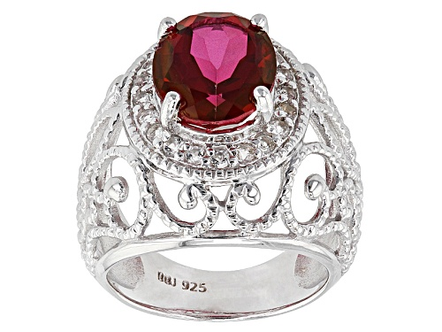 Photo of 3.81ct Oval Peony™ Topaz With .32ctw Round White Topaz Sterling Silver Ring - Size 8