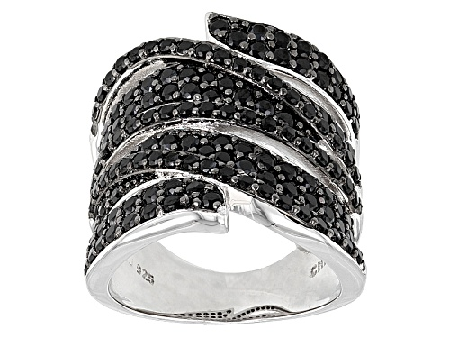 Photo of 2.06ctw Round Black Spinel Sterling Silver Band Ring - Size 6