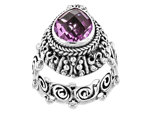 Photo of Artisan Gem Collection Of Bali™ Kunzite Color Pink Quartz Triplet Sterling Silver Solitaire Ring - Size 12