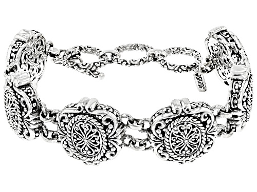 Artisan Gem Collection Of Bali™ Sterling Silver Filigree Bracelet - Size 7.5