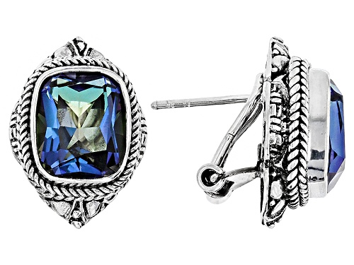 Photo of Artisan Collection Of Bali™ 7.90ctw Blue Mystic Quartz® Sterling Silver Solitaire Earrings
