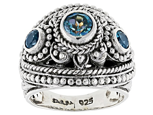 Photo of Artisan Collection Of Bali™ 1.15ctw Rio Aqua™ Mystic Topaz® & London Blue Topaz Silver Ring - Size 6