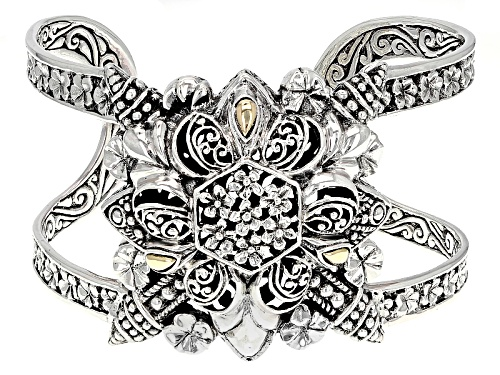 Photo of Artisan Collection Of Bali™ Sterling Silver With 18k Gold Accent Filigree Flower Cuff Bracelet