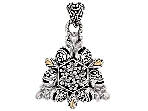 Photo of Artisan Collection Of Bali™ Sterling Silver With 18k Gold Accent Filigree Flower Pendant