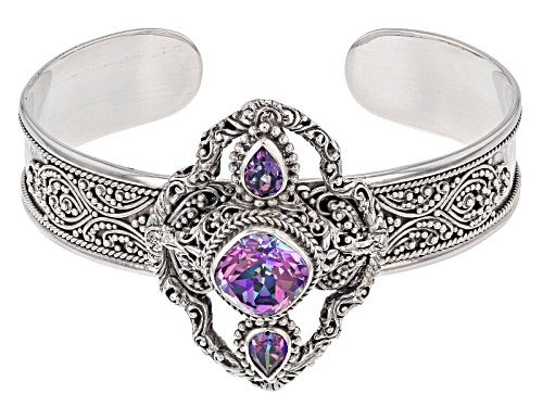 Photo of Artisan Of Bali™ 3.66ct Mystic Quartz® And 1.44ctw Mystic Topaz® Silver Cuff Bracelet