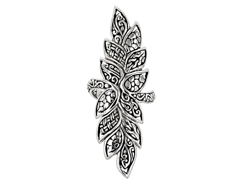 Photo of Artisan Collection Of Bali™ Sterling Silver Elongated Leaf Ring - Size 6