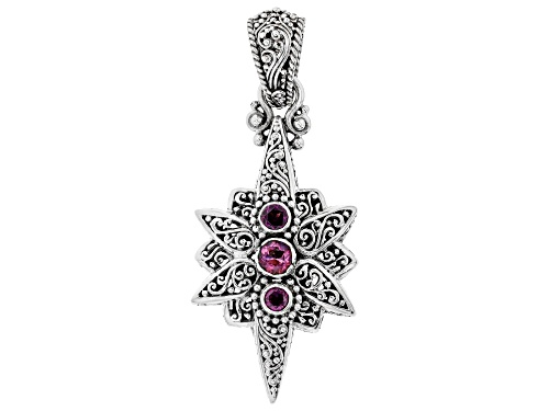 Photo of Artisan Of Bali™ .51ct Wild Side™ Mystic Topaz® And .60ctw Rhodolite Silver Pendant