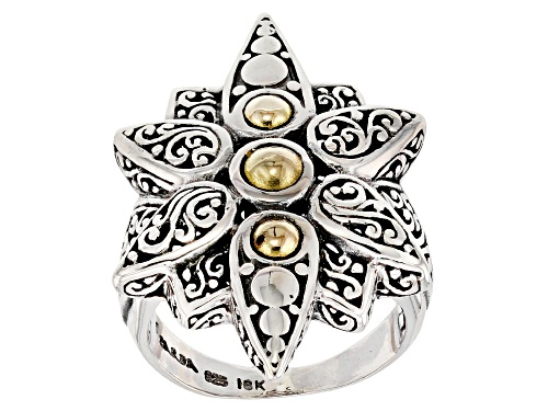 Photo of Artisan Collection Of Bali ™ Sterling Silver And 18k Gold Star Bright Ring - Size 6