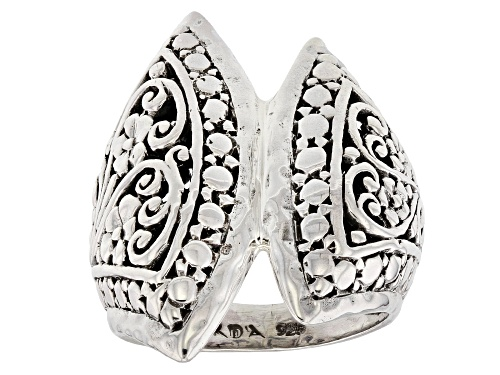 Photo of Artisan Collection Of Bali™ Sterling Silver Floral Filigree Bypass Ring - Size 6