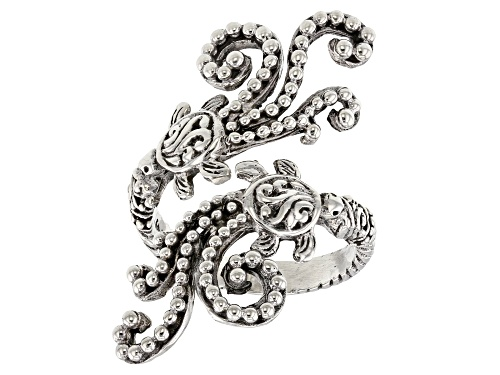 Photo of Artisan Collection Of Bali™ Sterling Silver Turtle Tidal Wave Bypass Ring - Size 7