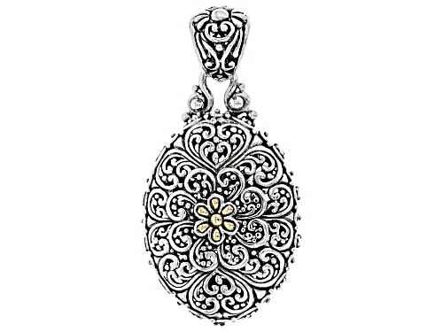 Photo of Artisan Collection Of Bali™ Sterling Silver And 18k Gold Accent Filigree Flower Pendant