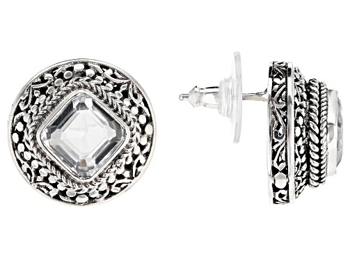 Photo of Artisan Collection Of Bali™ 4.58ctw Square Cushion White Quartz Sterling Silver Earrings