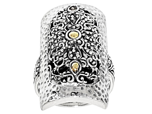 Photo of Artisan Collection Of Bali™ Silver And 18k Gold Accent Lavished Upon Us Ring - Size 8
