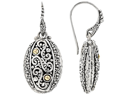 "Photo of Artisan Collection Of Bali™ Sterling Silver And 18k Gold Accent ""Immeasurably More"" Dangle Earrings"