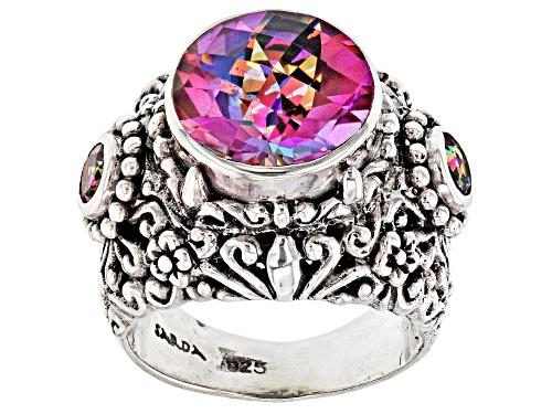 Photo of Artisan Collection Of Bali™ 4.05ctw British Tearose™ Quartz And English TeaRose™ Topaz Silver Ring - Size 12