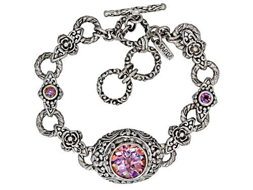 Photo of Artisan Collection Of Bali™ 4.05ctw British Tearose™ Quartz & English TeaRose™ Topaz Silver Bracelet - Size 7.5