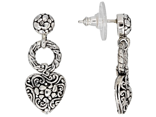 Photo of Artisan Collection Of Bali™ Sterling Silver Heart Dangle Earrings