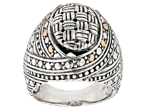 "Photo of Artisan Collection Of Bali™ Sterling Silver And 18K Gold Accent  ""Never Overlooked"" Ring - Size 7"