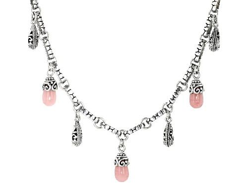 Artisan Collection Of Bali™ Drop Shape Guava Quartz Sterling Silver Necklace - Size 21