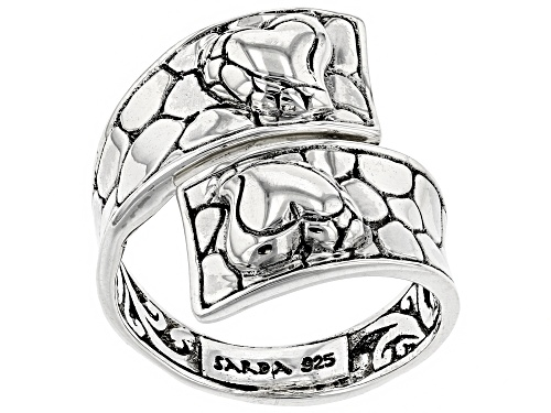 "Photo of Artisan Collection Of Bali™ Sterling Silver ""Hope And A Future"" Bypass Heart Ring - Size 8"