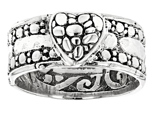"Photo of Artisan Collection Of Bali™ Sterling Silver ""Gaze On The Beauty"" Heart Band Ring - Size 7"