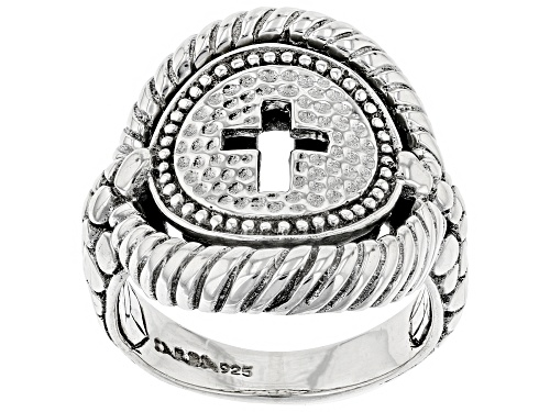 """Photo of Artisan Collection Of Bali™ Sterling Silver """"Honest Shield"""" Cross Ring - Size 6"""
