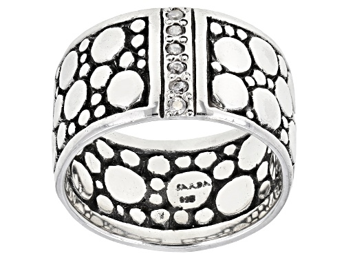 Photo of Artisan Collection Of Bali™ 0.24ctw 1.5mm Round White Zircon Sterling Silver Band Ring - Size 8