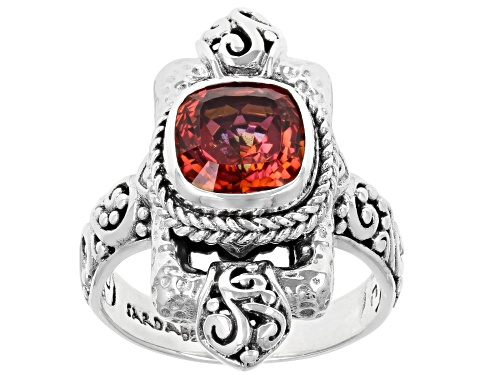Photo of Artisan Collection Of Bali™ 1.70ct Square Cushion Hoity Toity™ Quartz Silver Solitaire Ring - Size 8