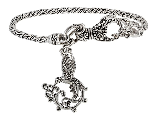Photo of Artisan Collection Of Bali™ Sterling Silver Hummingbird Charm Bracelet - Size 7