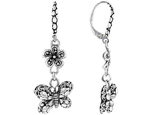 """Photo of Artisan Collection Of Bali™ Sterling Silver """"Transformation"""" Butterfly Drop Earrings"""