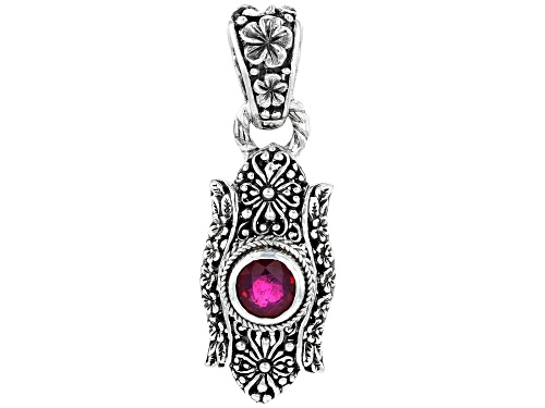 Photo of Artisan Collection Of Bali™ 2.13ct 8mm Round Mahaleo® Ruby Sterling Silver Pendant