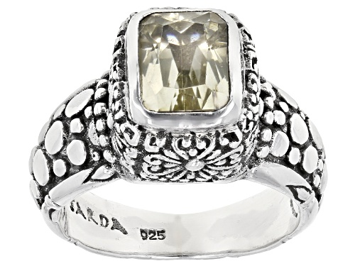 Photo of Artisan Collection Of Bali™ 2.56ct 9x7mm Emerald Cut Canary Spodumene Silver Solitaire Ring - Size 9