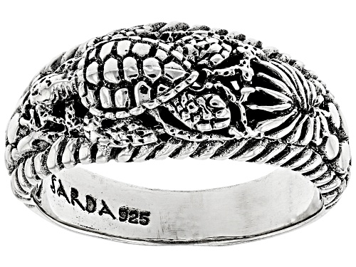 """Photo of Artisan Collection Of Bali™ Sterling Silver """"Sun- Kissed Turtle"""" Ring - Size 8"""