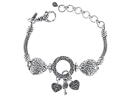 """Photo of Artisan Collection Of Bali™ Sterling Silver """"Treasure Box"""" Charm Bracelet - Size 6.5"""