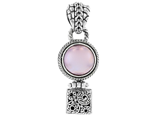 Photo of Artisan Collection Of Bali™ 14mm Round Pink Mabe Pearl Sterling Silver Pendant