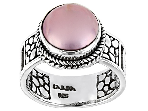 Photo of Artisan Collection Of Bali™ 10mm Pink Mabe Pearl Sterling Silver Solitaire Ring - Size 10