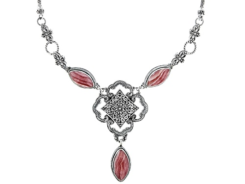 Photo of Artisan Collection Of Bali™ Marquise Rhodochrosite Sterling Silver Drop Necklace - Size 16