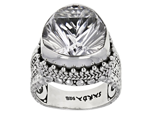 Photo of Artisan Collection Of Bali™ 7.01ct 14mm Trillion Crystal Quartz Sterling Silver Solitaire Ring - Size 8