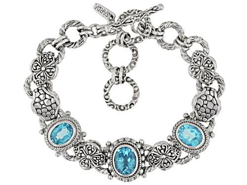 Photo of Artisan Collection Of Bali™ 6.89ctw Oval Bali Breeze™ Topaz Sterling Silver Bracelet - Size 7