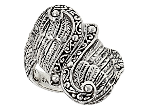 Photo of Artisan  Collection Of Bali™ Sterling Silver Filigree Angel Wing Bypass Ring - Size 7