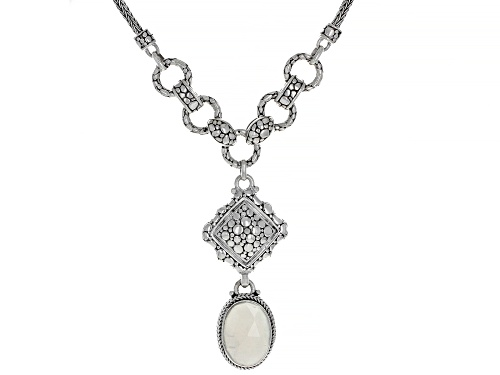 Photo of Artisan Collection Of Bali™ 18x13mm Oval White Moonstone Sterling Silver Necklace - Size 16