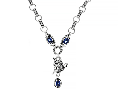 Photo of Artisan Collection Of Bali™ 2.64ctw 7x5mm Oval Kyanite Sterling Silver Butterfly Necklace - Size 20