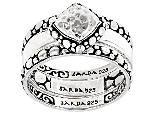 """Photo of Artisan Collection Of Bali™ Sterling Silver """"Purpose And Intent"""" Ring Set Of Three - Size 9"""