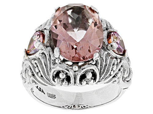 Photo of Artisan Bali™ Sudsy Sells™Mystic Quartz®,Magnifique Sunrise™Mystic Topaz® Silver Ring - Size 11